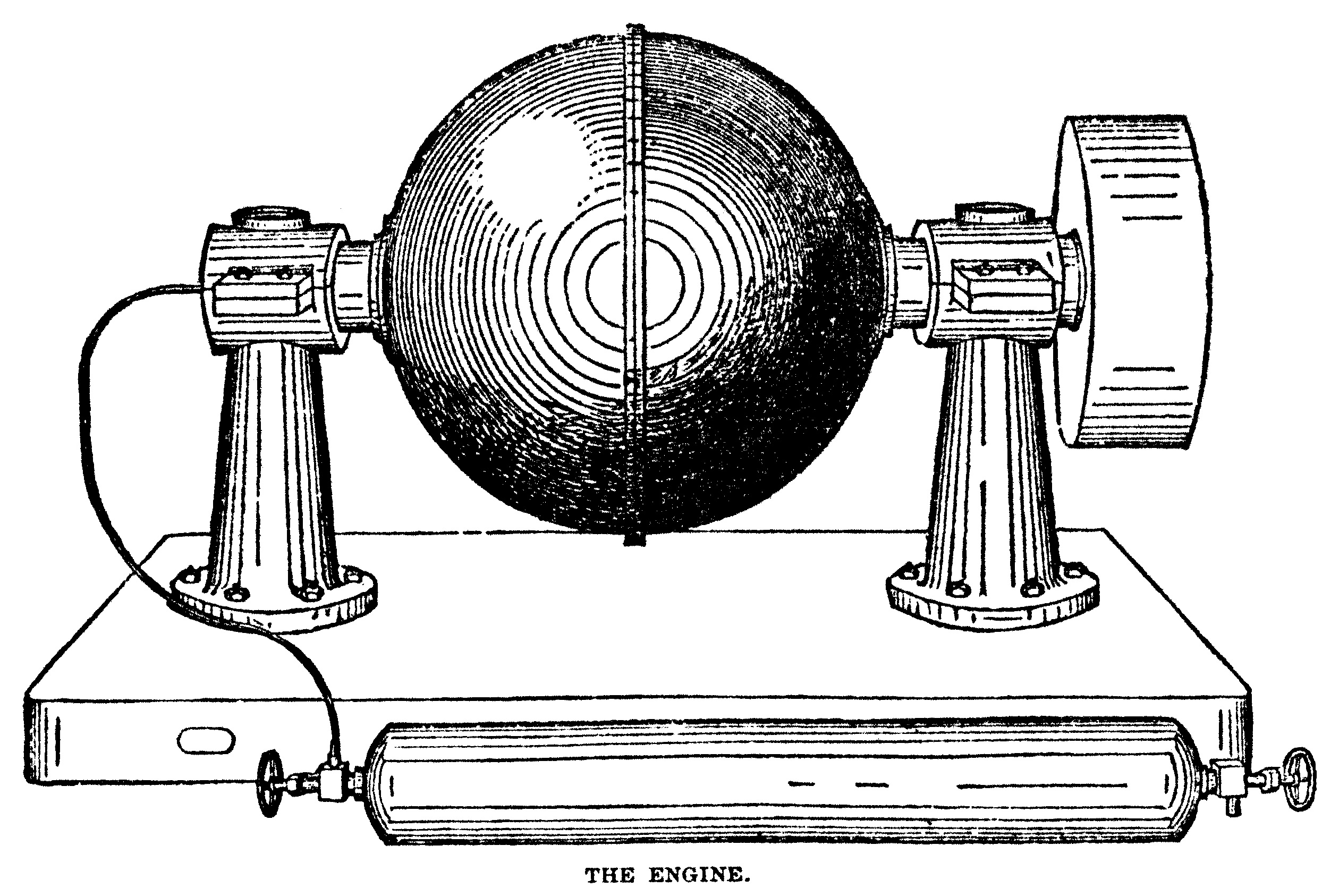 Drawing of an original Globe Motor of earlier design