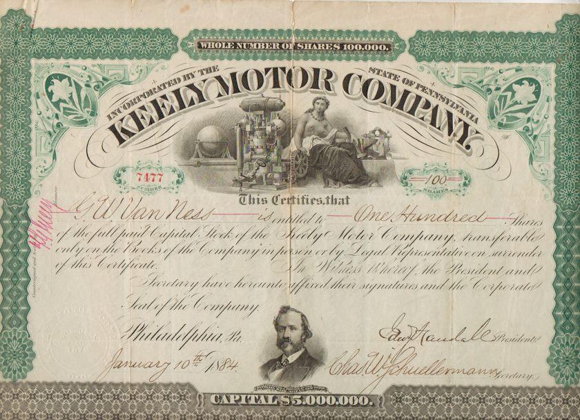 KMC - Stock Certificate