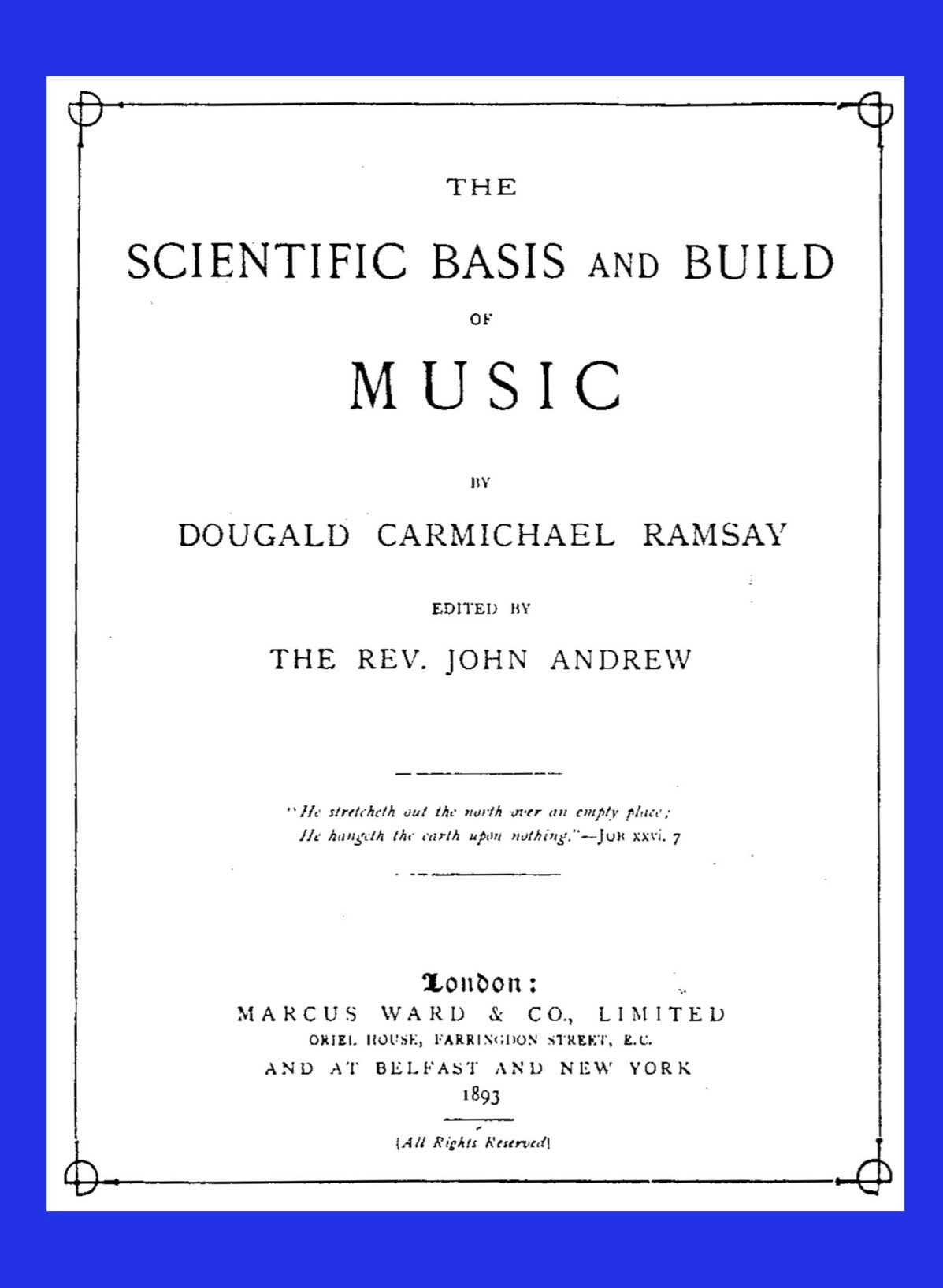 Scientific Basis and Build of Music